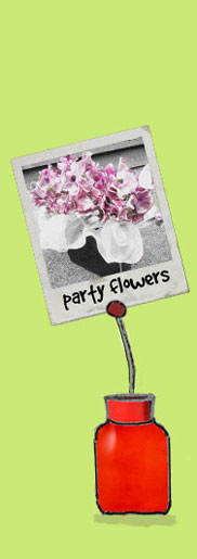 floral art for parties - party flowers